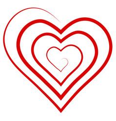 logo outline shape spiral heart vector image