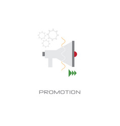 loudspeaker icon megaphone promotion business vector image