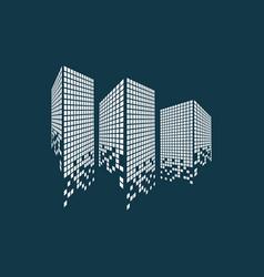 Modern city skyline logo vector