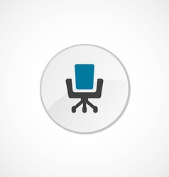 Office chair icon 2 colored vector