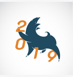 pig design 2019 new year card vector image