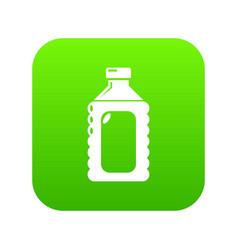 plastic soap bottle icon green vector image