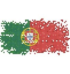 Portuguese grunge tile flag vector