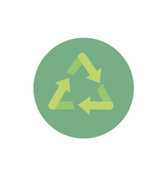 recycle green energy block icon vector image