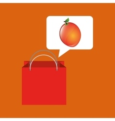 Red package juicy orange fruit vector