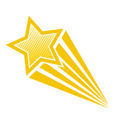 retro cartoon pop art comic style shooting star vector image