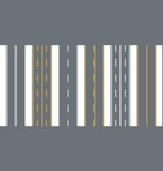 Road street with asphalt highwaydirection vector