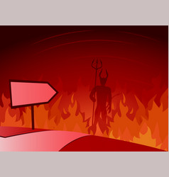 Road to hell and direction sign vector