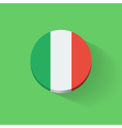 Round icon with flag of Italy vector image