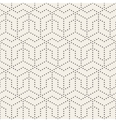Seamless Black and White Dotted Lines Grid vector image