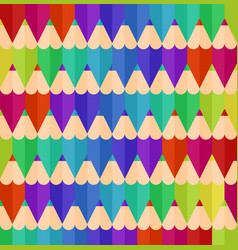 seamless geometric pattern with colorful pencils vector image