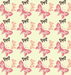 Seamless tile butterfly background 0105 vector