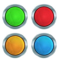 Set of colorful glossy green lampshades krasnog vector