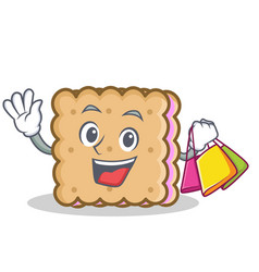 Shopping biscuit cartoon character style vector
