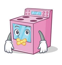 Silent gas stove character cartoon vector