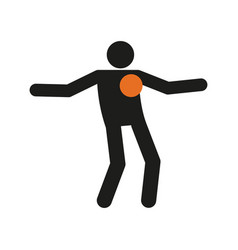 Simple freestyle football soccer sport figure vector