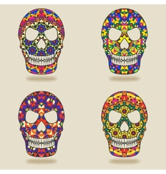 Skull with kaleidoscope pattern vector