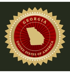 Star label Georgia vector