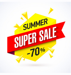 Summer sale banner vector