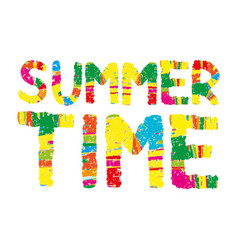 summer time color abstract lettering vector image