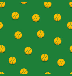 tennis balls seamless background vector image