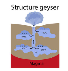 The formation geyser vector