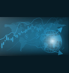 Trading graph financial business graph vector