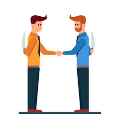 Two business mans handshaking with hide a knife in vector