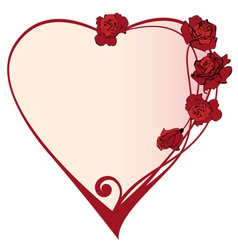 valentine frame with roses vector image