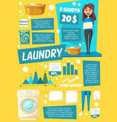 Washing machine housekeeping and laundry vector