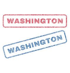 Washington textile stamps vector