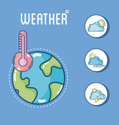 weather and forecast vector image