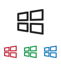 windows icon vector image