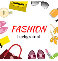 women accessories frame vector image