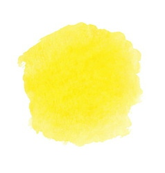 Yellow watercolor spot vector image