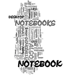 your guide to a notebook text word cloud concept vector image