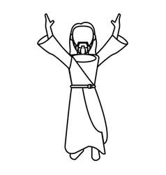 jesus christ prayer devotion outline vector image