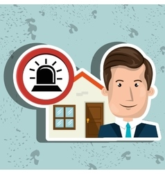 man house security protection vector image