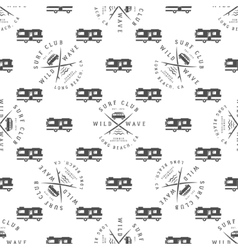Surfing Seamless pattern with surfing van vector image vector image