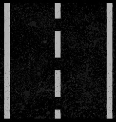 asphalt with white lines vector image