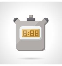 Digital stopwatch flat color icon vector image vector image
