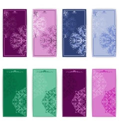 set of template for greeting card vector image vector image