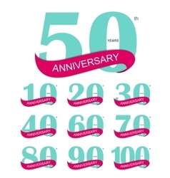 Template Logo 30th Anniversary vector image