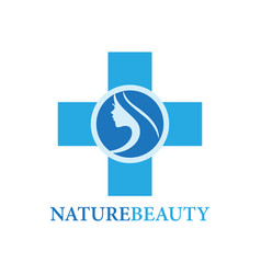 beauty care logo vector image
