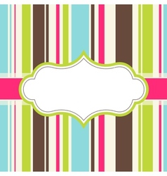 frame design for greeting card vector image vector image