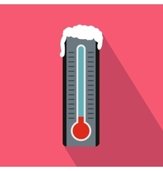 Frozen thermometer icon in flat style vector image vector image