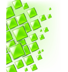 Green Square background abstract of techno vector image