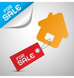House For Sale Paper Icon vector image vector image