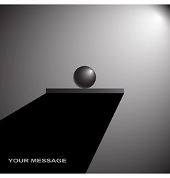 shelf with sphere abstract vector image