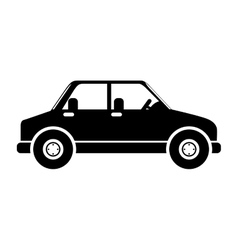 silhouette in black color of vehicle vector image